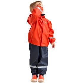 DIDRIKSONS Slaskeman 4 Rain Set Kids, poppy red